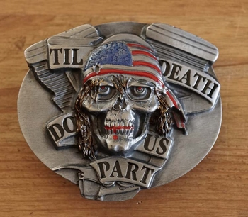 "Belt buckle  "" Til death do us part  """
