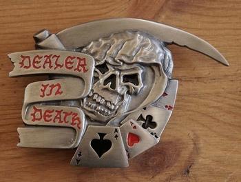 "Belt buckle / Riem gesp  "" Dealer in death """