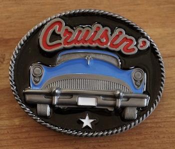 "Buckle  "" Cruisin ""  auto blauw"