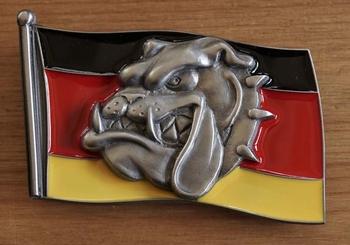 """Buckle  """"Duitse vlag met bulldog kop """""""