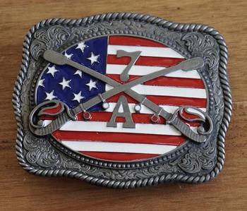 """Buckle / gesp  """" Americaanse vlag met zwaarden 7A """""""
