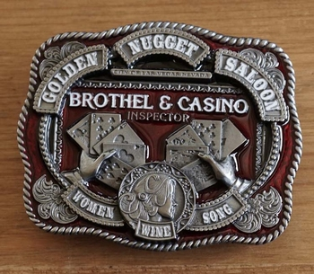 "Belt buckle / Riem gesp ""  Brothel & Casino inspector """