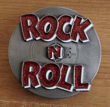 "Buckle  "" Rock 'n Roll ""  rood"