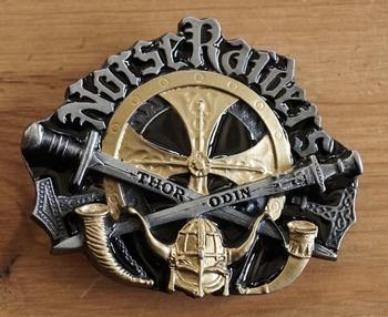 "Belt buckle  "" Norse raiders  "" zwart / goudkleurig"