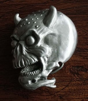 "Belt buckle   "" Skull in vlammen met motor """