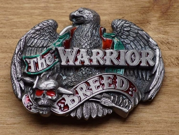 "Belt buckle  "" The Warrior breed ""  adelaar en doodshoofd"