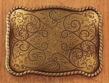 """Belt buckle  """" Bloemenmotief """"  koper kleurig"""