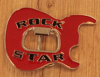 "Buckle "" Rock star, body gitaar ""  rood"