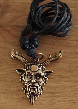 """Bronzen ketting  """" Cernunnos """"  keltische god"""