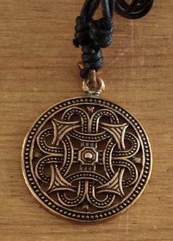 """Bronzen ketting  """" Oneindige knoop """""""