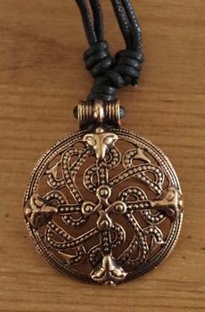 """Bronzen ketting  """" Oneindige knoop beast """""""