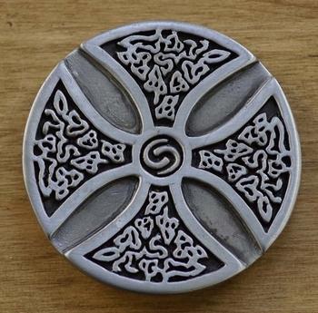 """Buckle / gesp  """" Celtics kruis met knot """""""