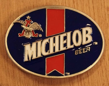 """Buckle  """" Michelob beer """" blauw / wit / rood"""