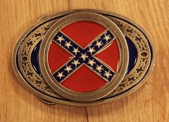 """Buckle / gesp  """" Rebel vlag """""""