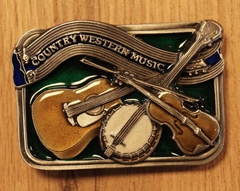 "Buckle  "" Country western music ""  UITVERKOCHT"