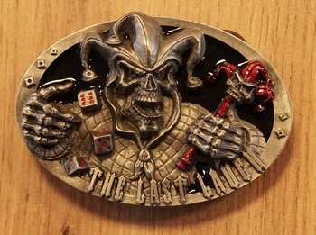 "Buckle "" The last laugh  ""  Joker skelet"