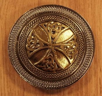 "Buckle / gesp  ""  Two celtic cross knot """