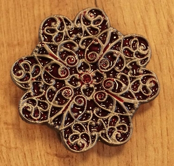 "Buckle / gesp  "" Celtic flower """