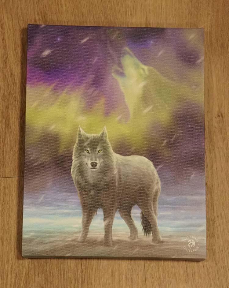 "Anne Stokes wanddecoractie  "" Wolf """