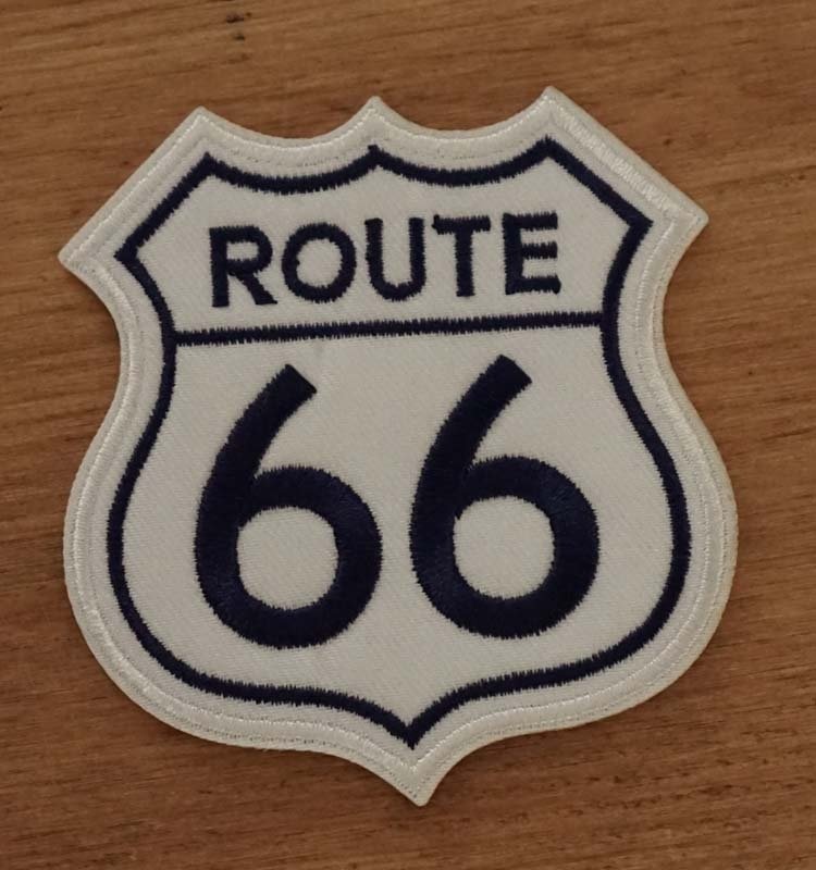 "Applicaties  "" Route 66  ""  wit / blauw"