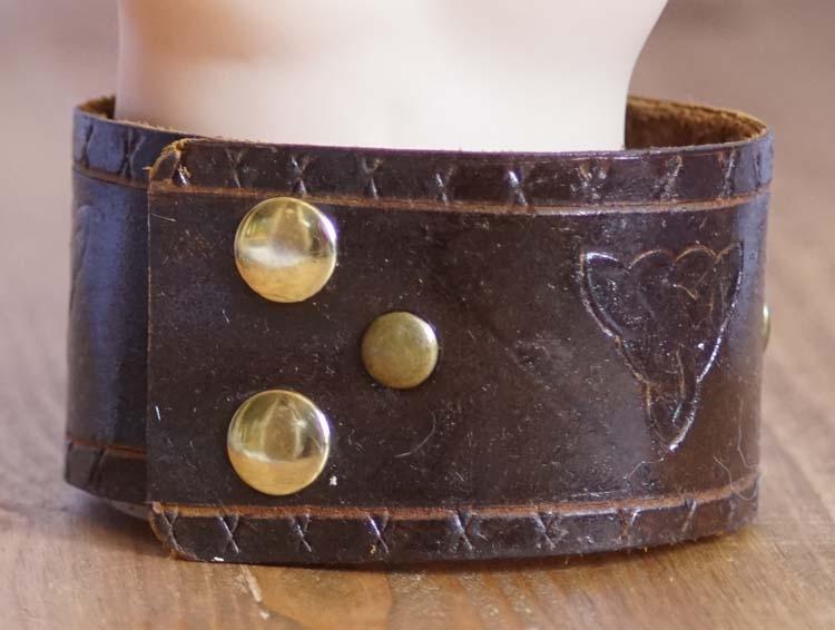"Armband  "" Keltische triskel ""   Bruin"