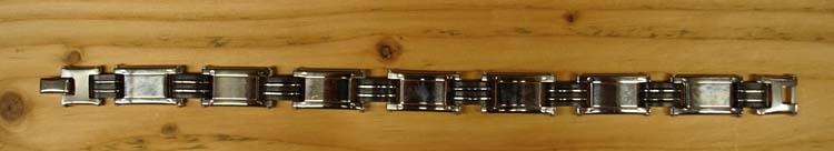 "Armband  "" Sierwerk ""   Zilverkleurig / zwart"