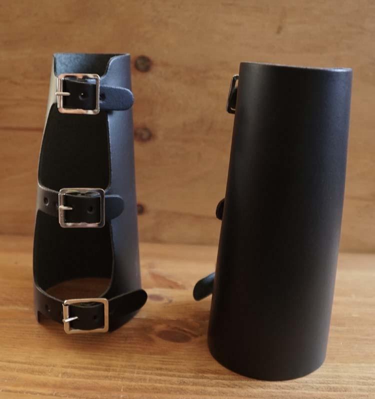 "Armkappen "" Zwart ""  lengte 17 cm"