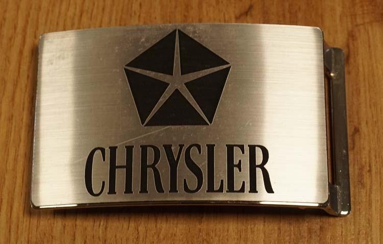 """Automerk buckle  """"  Chrysler """"  zilverkleurig"""