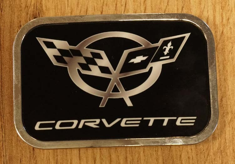 "Automerk buckle  ""  Corvette ""  zwart"