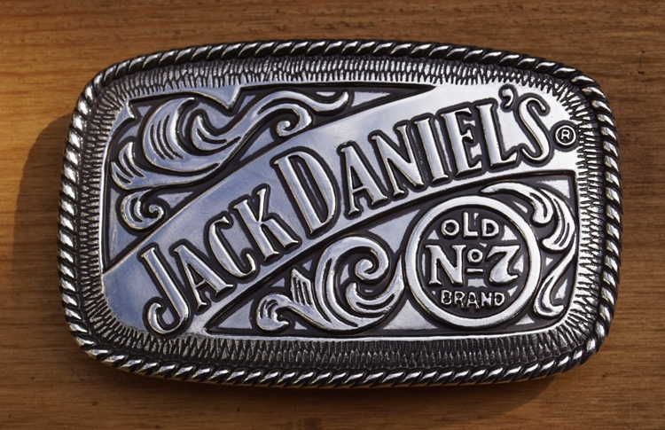 "Belt buckle   "" Jack Daniel's  old no 7  """