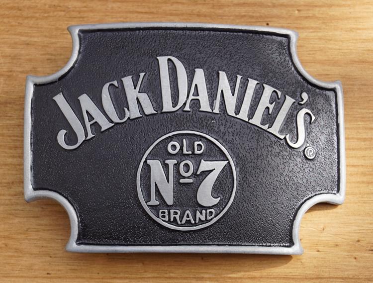 "Belt buckle   "" Jack Daniel's  old no 7 brands """