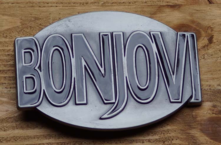 "Belt buckle  "" Bon Jovi """