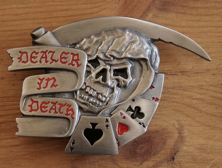 "Belt buckle / Riem gesp  "" Dealer in death """