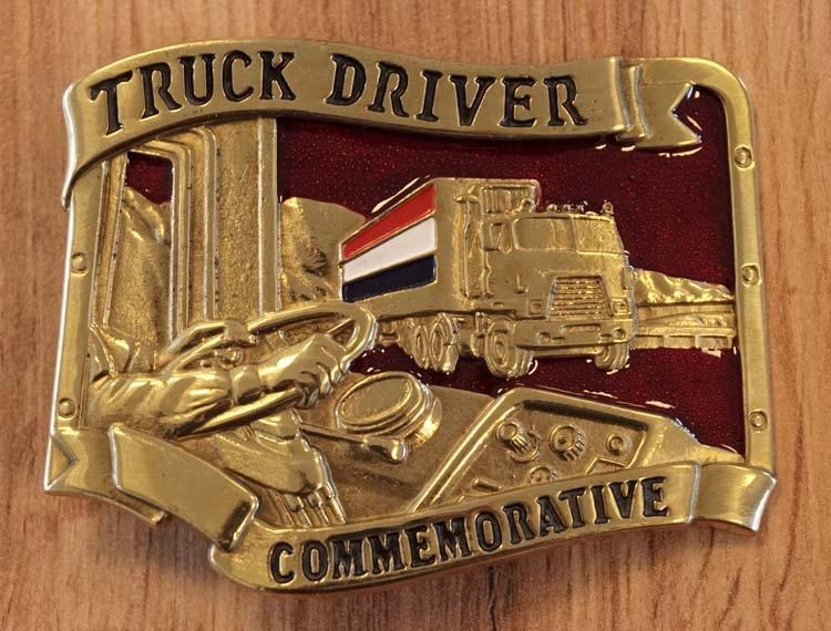 """Belt buckle """" Vrachtwagen met Nederlandse vlag """""""