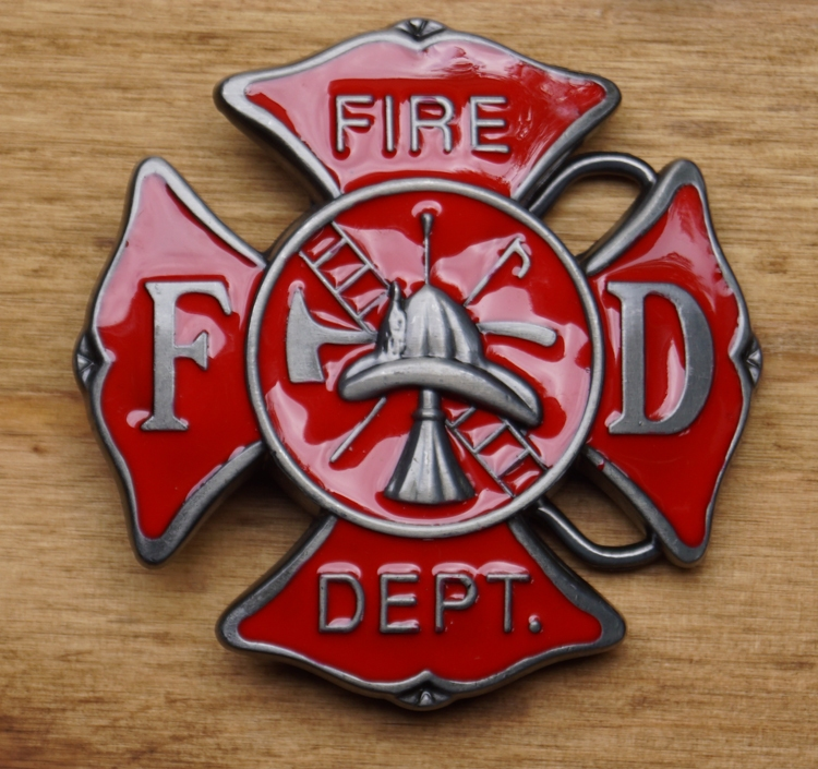 """Beroep buckle  """" FD Firefighter """"    ( Brandweerman )"""