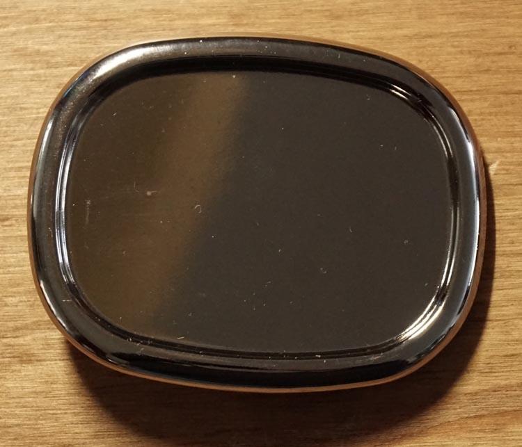 """Blank buckle  """" Rechthoek met ronde hoeken """" zilverkleurig"""