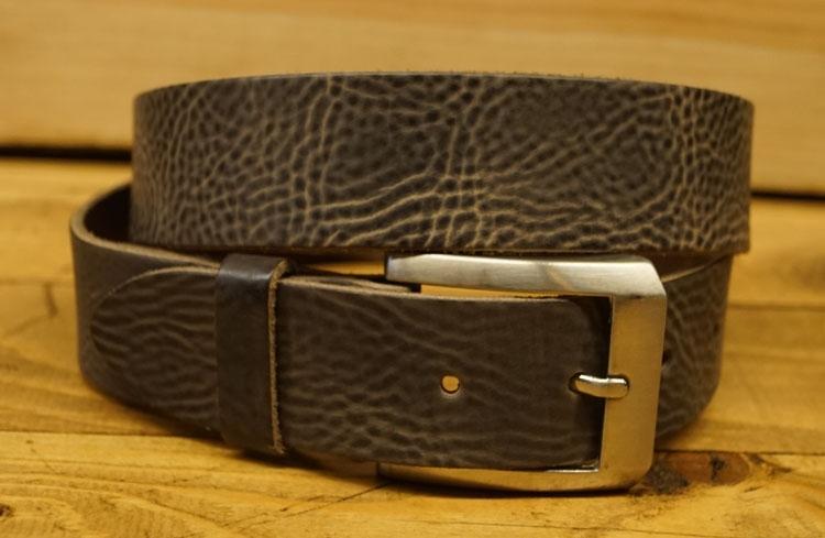 """Brede jeans riem  """" 3,5 cm breed  """"  Bruin structuur"""