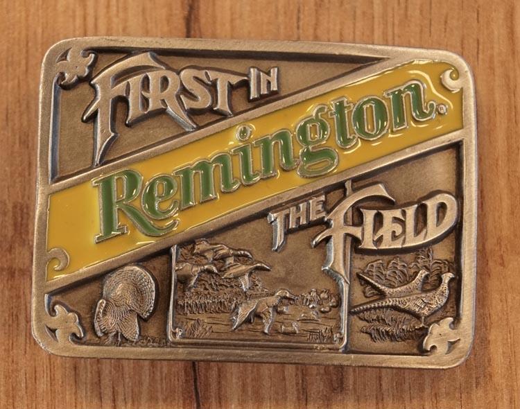 "Buckle  ""  Firt in remington, The Field ""  jachtgeweer"