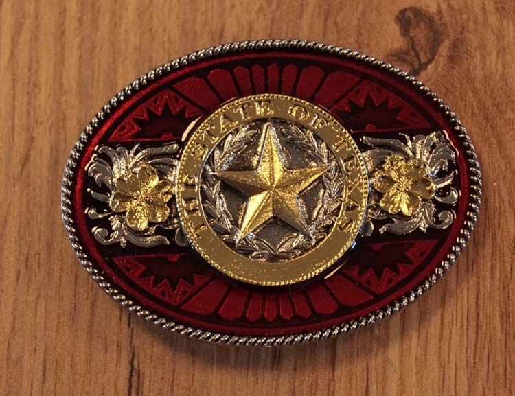 "Buckle  ""  The state of Texas """