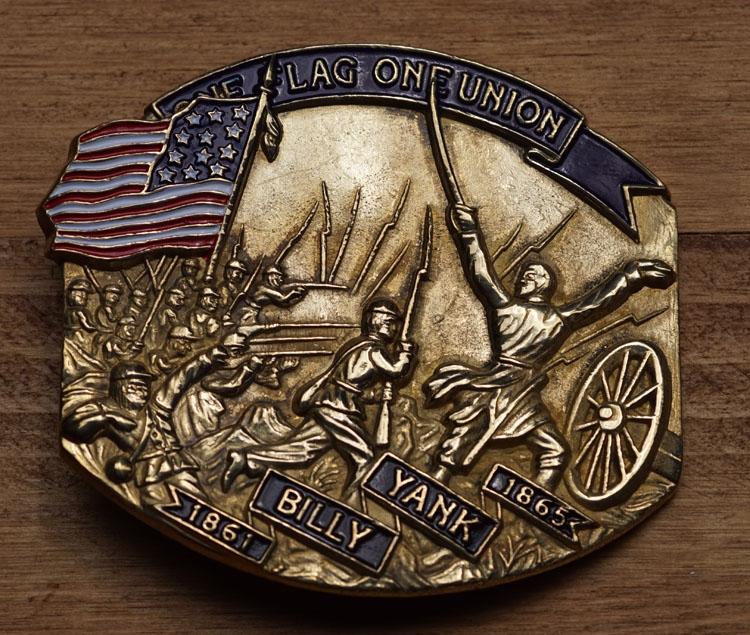 "Buckle  "" Billy Yank,  The flag of union """