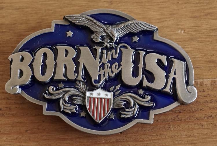 "Buckle  "" Born in the usa """