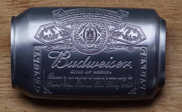 "Buckle  "" Budweiser can """