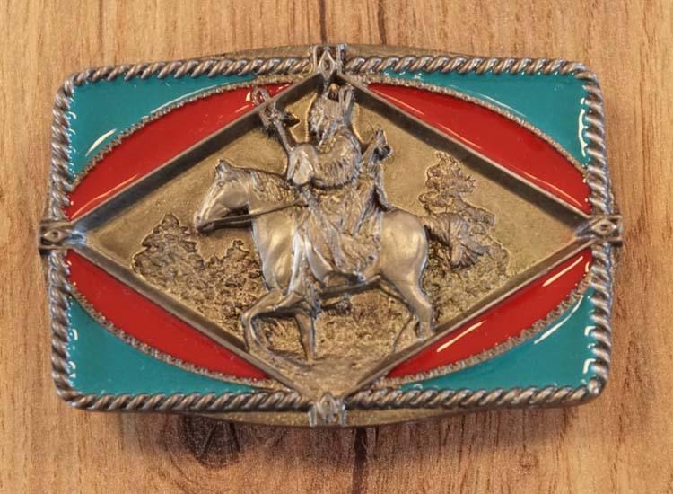 """Buckle  """" Krijger te paard """""""