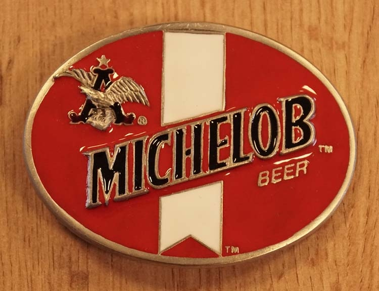 "Buckle  "" Michelob beer "" rood / wit"
