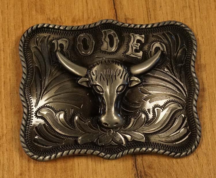 "Buckle  "" Rodeo + longhorn """