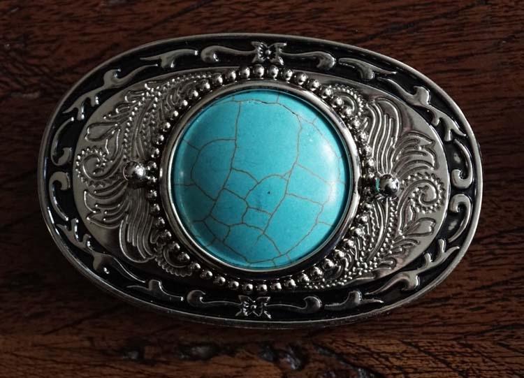 """Buckle  """" Sierwerk / turquoise steen """" zilver  UITVERKOCHT"""