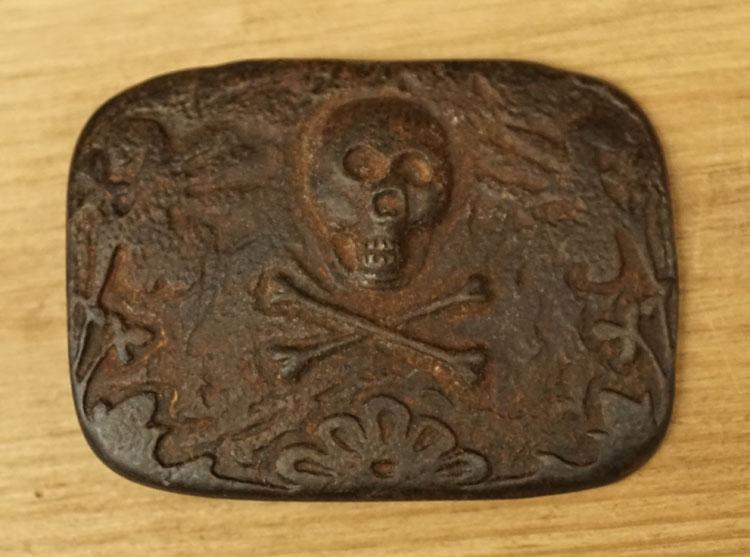 """Buckle  """" Skull with bones """""""