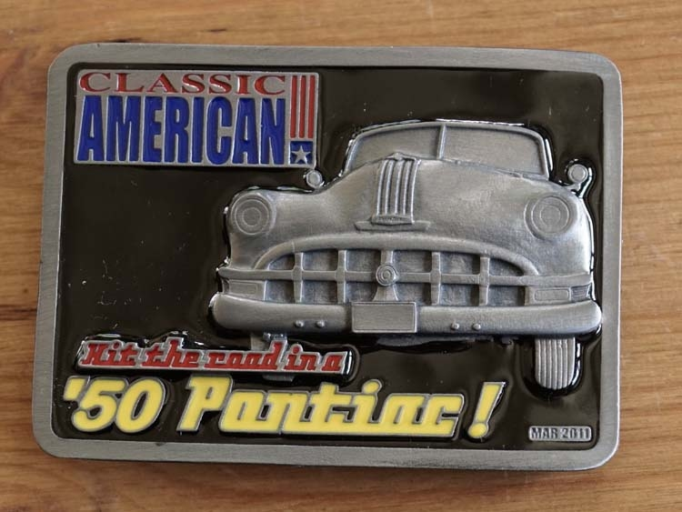 "Buckle "" Classic American  '50 Pontiac """