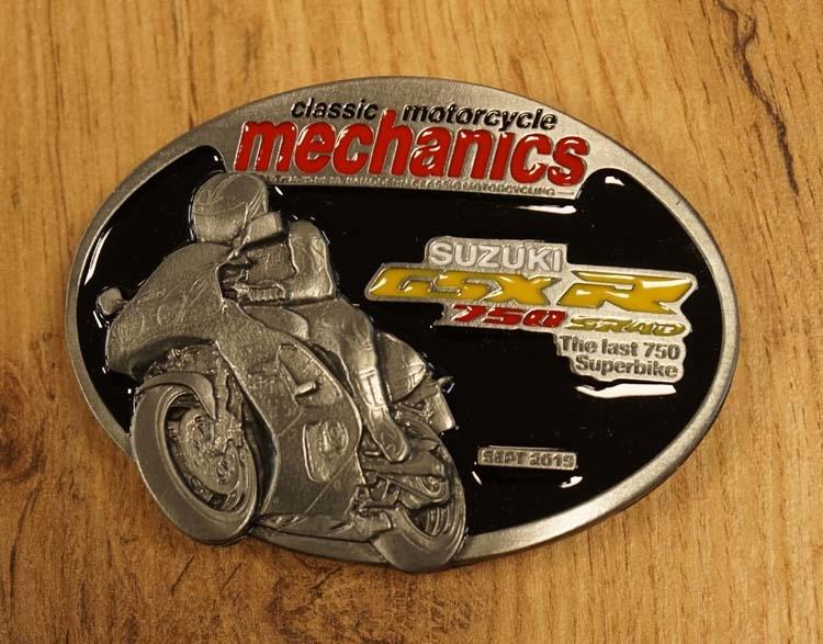 """Buckle """" Classic motorcycle mechanics """" Suzuki"""