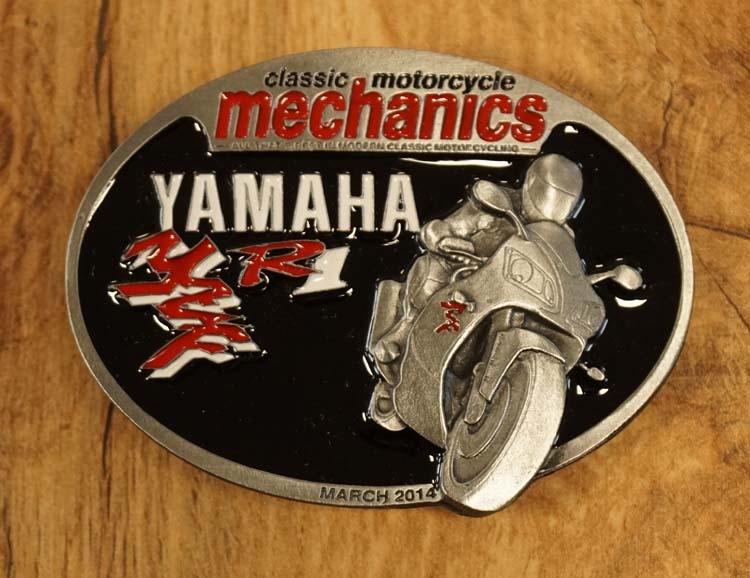 """Buckle """" Classic motorcycle mechanics """" Yamaha"""